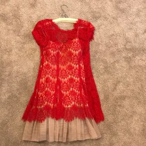 Like new Betsy and Adam red (sz 6) cocktail dress!